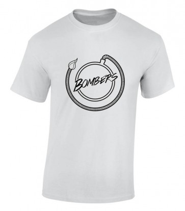 Bombers Guys Logo White T-Shirt