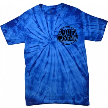 Ollie Goodwin Small Logo Blue Tie-Die T-Shirt