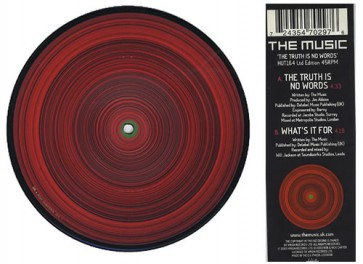 "The Music -TheTruth Is No Words 7"" Vinyl"